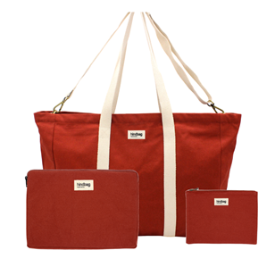 Pack Working - Sac cabas, housse d'ordinateur, pochette Terracotta