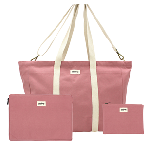 Pack Working - Sac cabas, housse d'ordinateur, pochette Blush