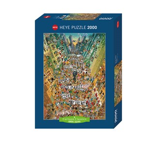 Puzzle HEYE - Puzzle Cartoon Protest 2000 Pièces
