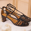 Chaussure-sandales-ecoresponsable-etreamis-modele-brune-cuir-colori-noir-made-in-Portugal