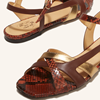 Chaussure-sandales-plates-ecoresponsable-etreamis-modele-Servane-cuir-colori-marron-or-made-in-Portu