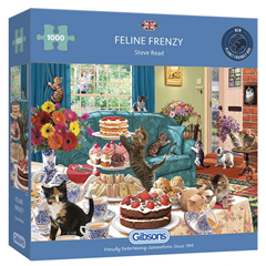 GIBSONS PUZZLES - Feline Frenzy 1000 Pièces