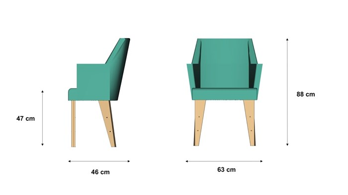 Dimensions chaise