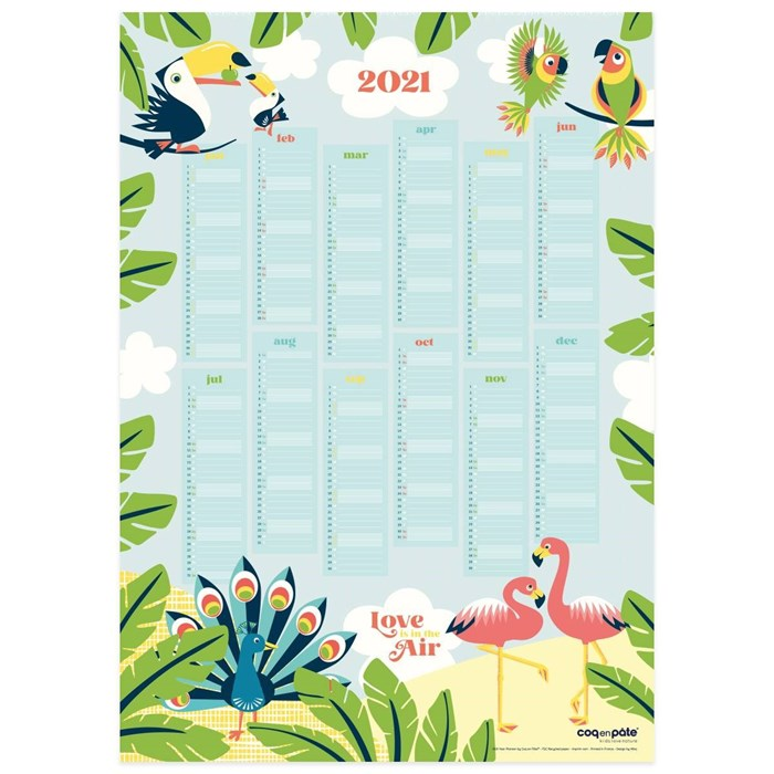 Poster calendrier 2021 49 x 69 cm 5