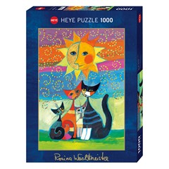 Puzzle HEYE - Wachtmeister Chat Soleil - 1000 Pièces