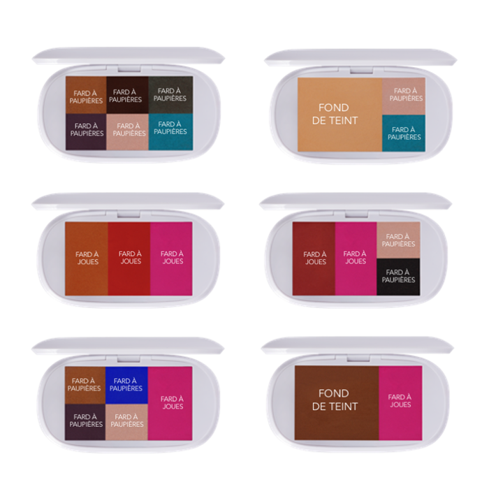 composition mood box palette maquillage anti gaspillage