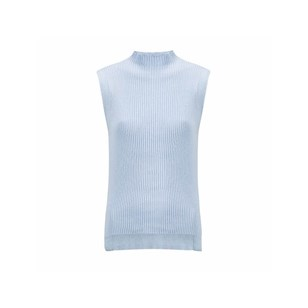 """Pull sans manche col montant - Bleu polaire """"Youth Ice"""""""