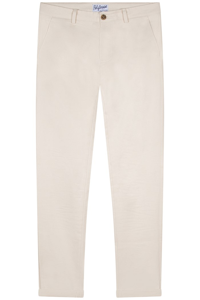 Chino homme recyclé/bio made in france polytesse beige
