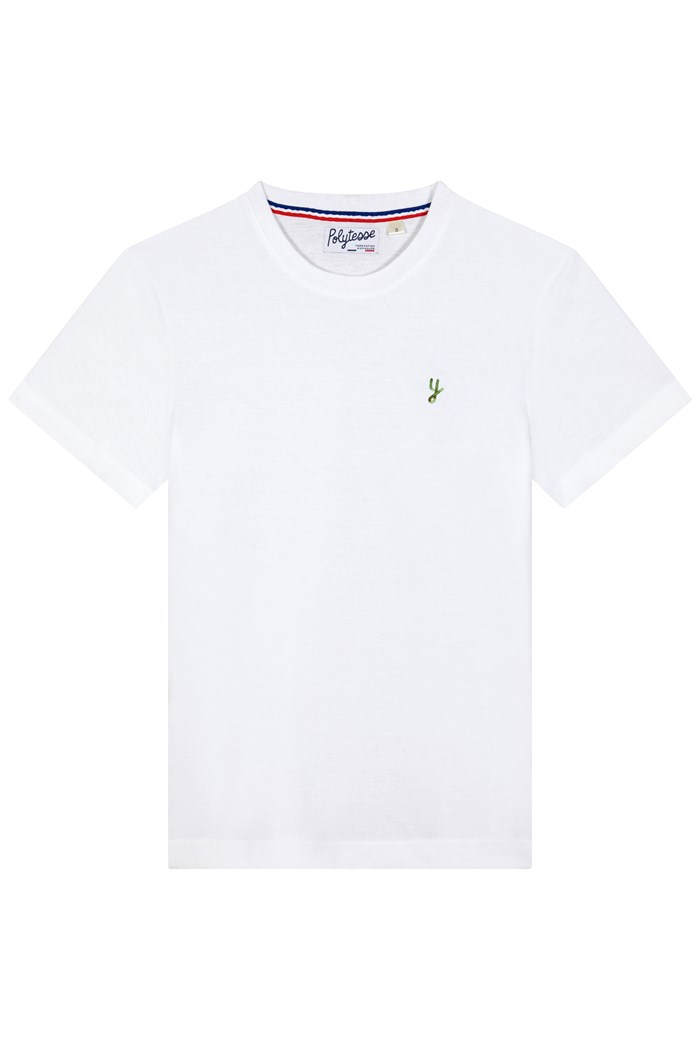 t-shirt made in france recyclé bio polytesse blanc personnalisable