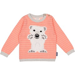 Pull tricot manches longues - OURS POLAIRE 2 à 8 ans
