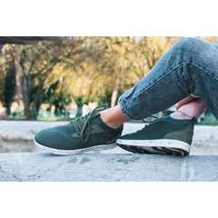 Saola chaussures éco responsables waterproof Mindo Olive Green - Femme