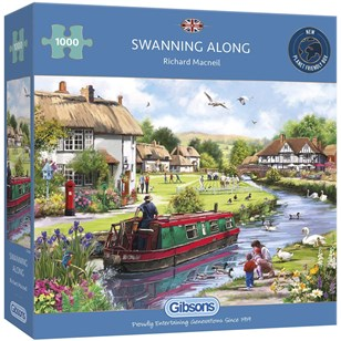 Puzzle GIBSONS - Swanning Along - 1000 Pièces
