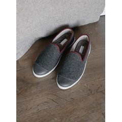 Chaussons homme en laine recyclée - Grey Rubino