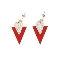 Boucle d'oreille TRIANGLE rouge