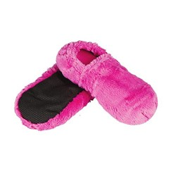 Chaussons bouillotte fuchsias made in France