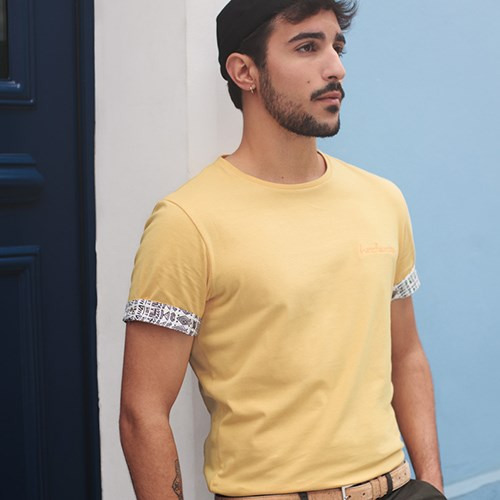 T-shirt Ocre broderie Frenchsunday - coton Bio - Made in France 2