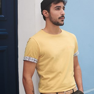T-shirt Ocre broderie Frenchsunday - coton Bio - Made in France