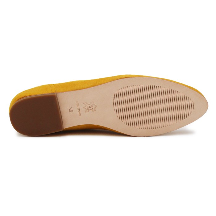 Slippers Plates Daim Jaune Moutarde 8