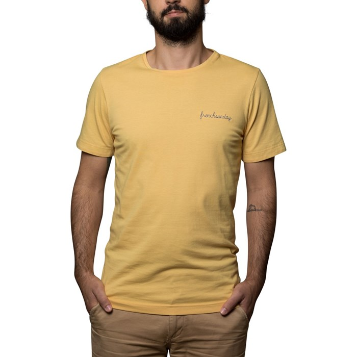T-shirt Ocre broderie Frenchsunday - coton Bio - Made in France 3