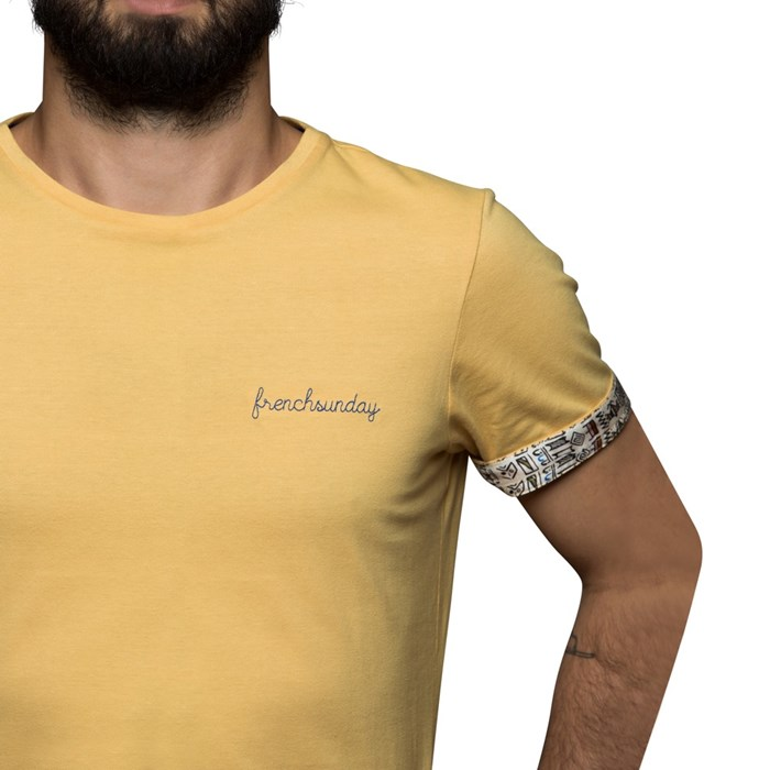 T-shirt Ocre broderie Frenchsunday - coton Bio - Made in France 4