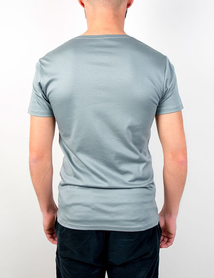 T-shirt gris col V Coton - made in France 4