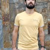 T-shirt ocre broderie Frenchdaddy - Coton bio - Made in France 4