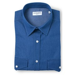 Chemise homme casual boutons pressions - Colorado Bleu marine