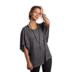 Tee shirt manches larges Butterfly - Gris