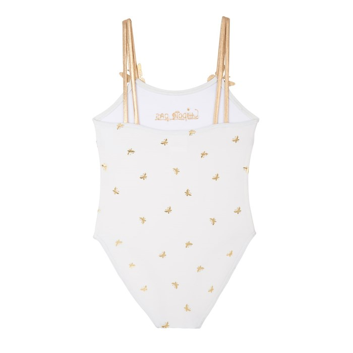 Maillot de bain 1 pièce broderie blanc - MAILLY 3