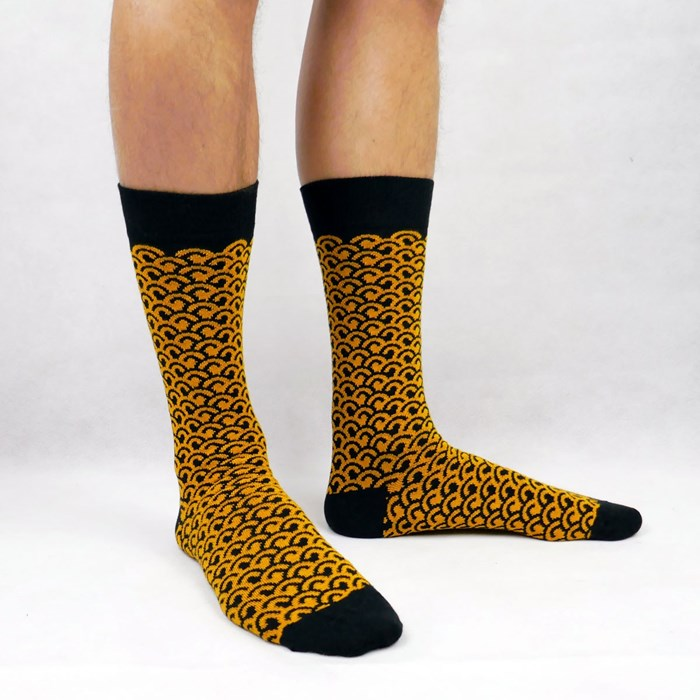 chaussettes-jaune-noir-made-in-france-homme