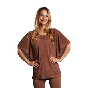 Tee shirt manches larges Butterfly - Marron